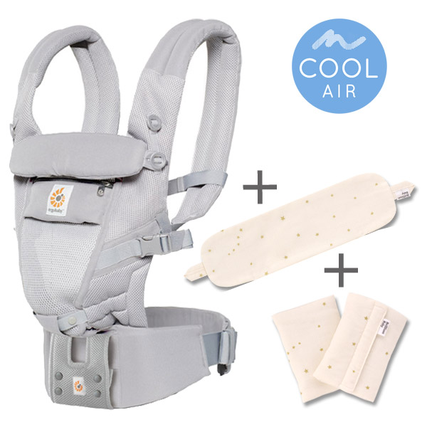 ErgoBabyCarrier アダプト クールエア グレー 専用カバー付き3点セット