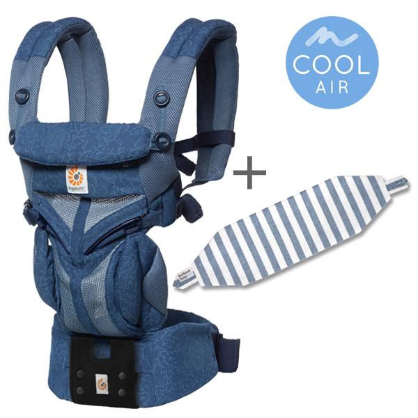 エルゴベビー オムニ360 クールエア ブルーブルーム 専用カバー付きセット(本体SG+専用カバー)