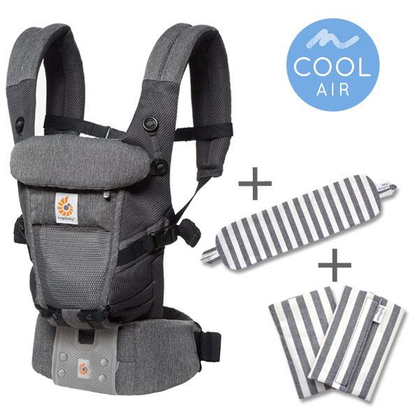 ErgoBabyCarrier アダプト クールエア クラシックウィーブ 専用カバー付き3点セット