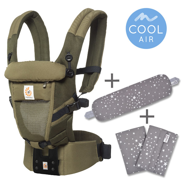 ErgoBabyCarrier アダプト クールエア ローデン 専用カバー付き3点セット