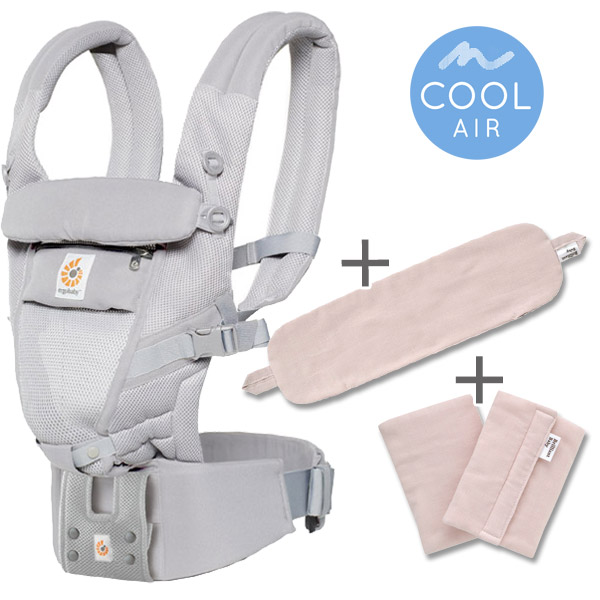 ErgoBabyCarrier アダプト クールエア パウダーピンク 専用カバー付き3点セット
