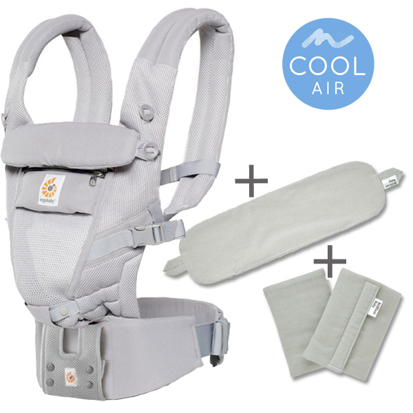 ErgoBabyCarrier アダプト クールエア パウダーグレー 専用カバー付き3点セット