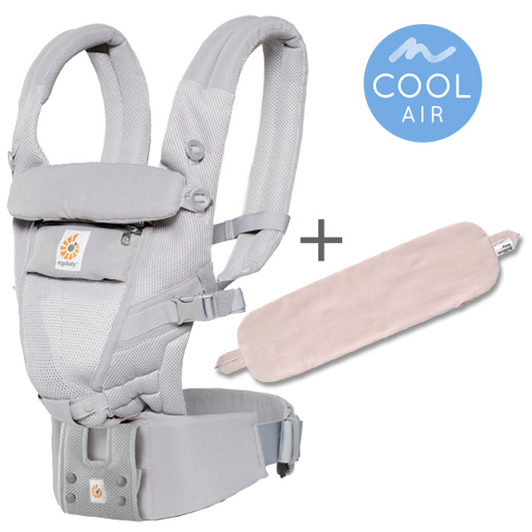 ErgoBabyCarrier アダプト クールエア パウダーピンク 専用カバーセット
